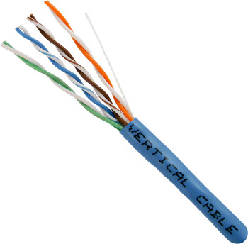Bulk Cat 5e UTP Riser Cable, Blue 1000' Box