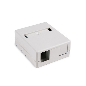 2 Port Surface Mount Box - Office White