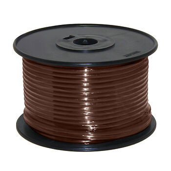 14AWG Stranded Copper Wire Brown 100ft