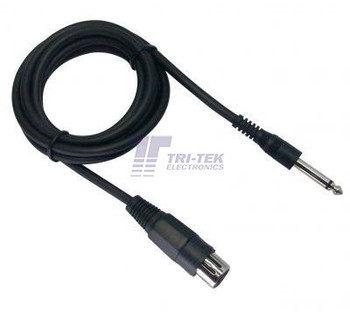 10 Foot Microphone Cable 1/4 to XLR