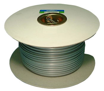 Telephone Flat Line Cord, SILVER 100'