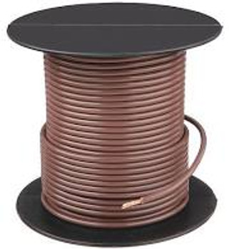 Solid Strand Copper Wire - 24 AWG - 100' - BROWN