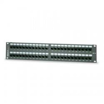 Cat 3 Modular-Telco Patch Panel; 24-Port, High Impact Thermoplastic, 19 inch Rack Mount