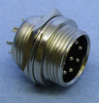 8-pin Male Chassis Mount Connector