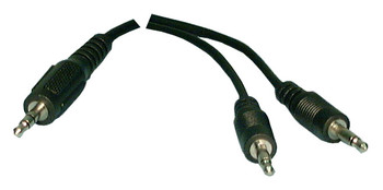 Y Adapter 3.5mm ST Male to Two 3.5mm Mono Male