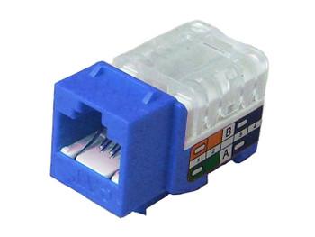Cat 5e Keystone KwikJack - Blue • 25pc Contractor Pack