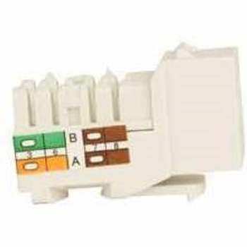 Cat 6 Keystone KwikJack - White • 25pc Contractor Pack