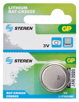 Steren #CR2025 Lithium Coin Battery