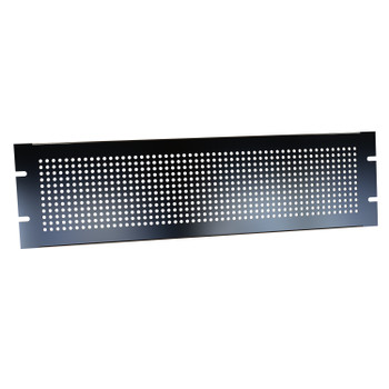 3U Perforated Steel Black Rack Panel