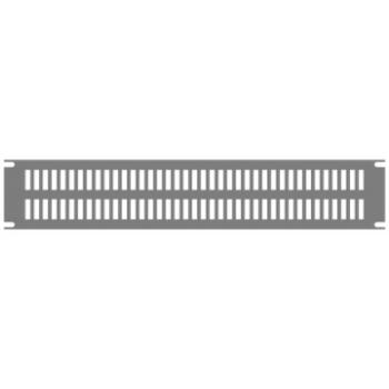 1U Slotted Black Aluminum Rack Panel