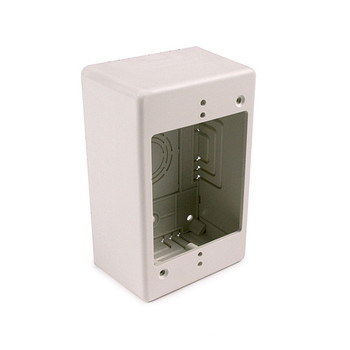 "Single Gang Junction Box, 2"" Deep, PVC, Office White"