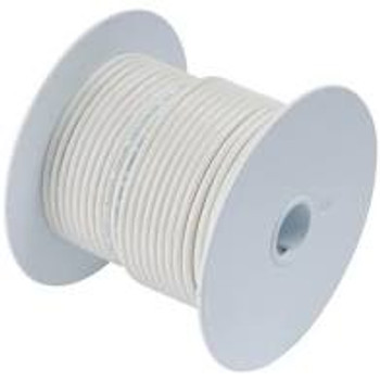 14AWG Stranded Copper Wire White 100 ft.