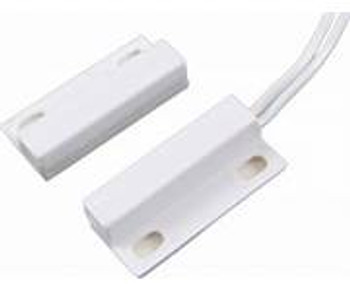 SPST, NO for Closed Loop System, Magnetic Alarm Reed Switch, White