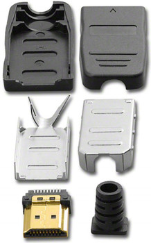 Pan Pacific HDI-19P-Kit-P HDMI 19 Pin Connector and Hood Set
