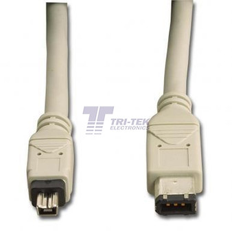 IEEE 1394 6 Pin To 4 Pin 6ft Firewire Cable