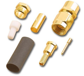 SMA Gold Plated Straight Crimp Male (Plug) For RG316/U And RG174/U