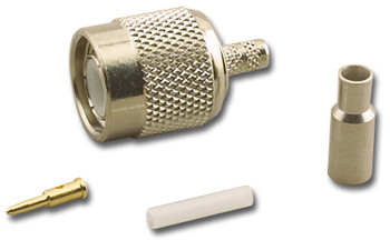 TNC Straight Male (Plug) Crimp Connector for RG-174/U (TNC-3428)