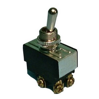 DPDT, (ON)-OFF-(ON), H.D. Bat Handle Toggle Switch