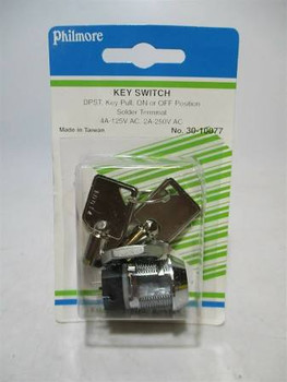 DPST, ON or OFF, Key Switch