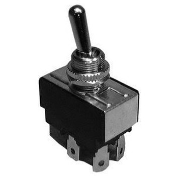 DPDT, ON-OFF-ON, H.D. Bat Handle Toggle Switch, 20A @ 125V