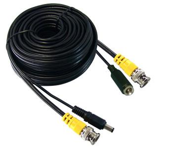 DC/Video Cable-150'-BNC M/M-2.1DC M/F