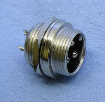 3-pin Male Chassis Mount Connector