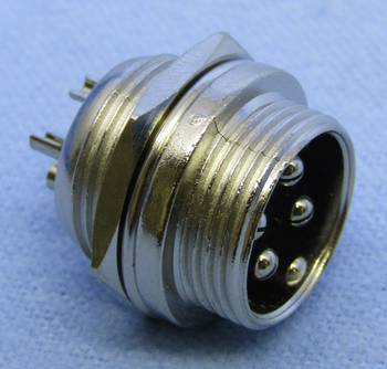 4-pin Male Chassis Mount Connector