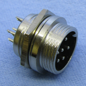 6-pin Male Chassis Mount Connector