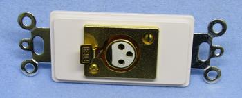 DECORA - 3 Pin Female Custom Design Wall Plate