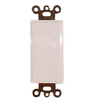 Blank Decora Filler Wall Plate - White