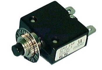 5 Amp Push Button Circuit Breaker 32v DC or 250v AC Fuse