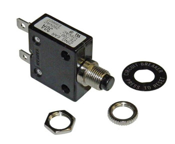 30 Amp Push Button Circuit Breaker 32V DC or 250V AC