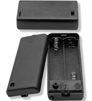 Two (2) AA Cell (UM-3) Plastic Battery Holder w/ Cover
