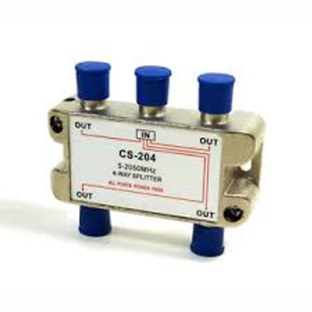 "High ""Q"" 4-Way Satellite Splitter"