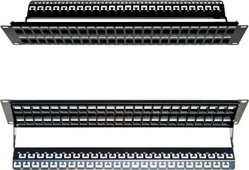 48-port 2U Unloaded Keystone Patch Panel