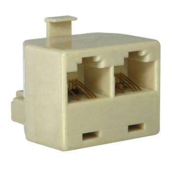 Ethernet/Telephone 10BT Splitter Male to 2 x Female