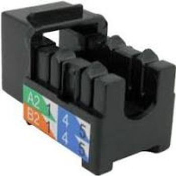 CAT6 Data Grade Keystone U-Jack, RJ45 90° 8×8, Black