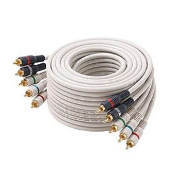 25' FT Component Video Audio Cable Stereo 5-RCA Male