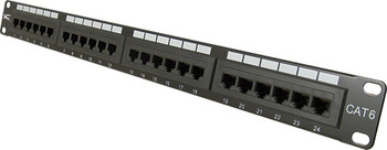 CAT6 24 Port, 110 IDC Patch Panel - 1U