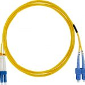 LC-SC Single Mode, Duplex, 9/12 5, 3.0mm Dia, Fiber Patch Cable, 15 Meter