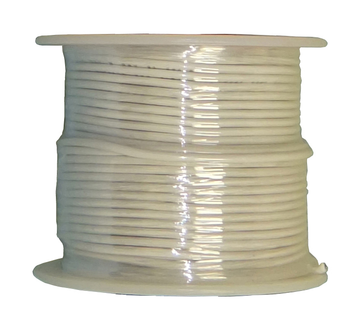 Stranded Copper Wire - 16 AWG - 100' - WHITE