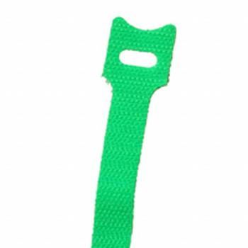 6-in. Hook/Loop Cable Ties Green 10/pk