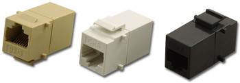Cat 6 Modular Feed Thru 8P8C Jack White