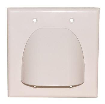Canopy Wall Plate Double Gang Standard-White