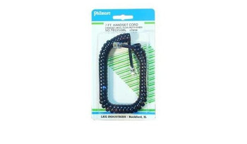 Telephone Coiled Handset Cord, 7ft BLACK