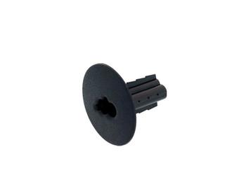 Black RG6-DUAL Feed Thru Bushing 50/bag