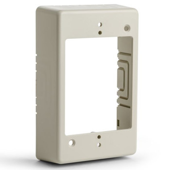 "Single Gang Junction Box, 1-1/4"" Deep, PVC, Ivory"