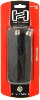5-pin MIDI Cable 3ft. Black