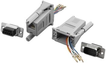 DB9/M To RJ-11 1PC Modular Adapter, Gray