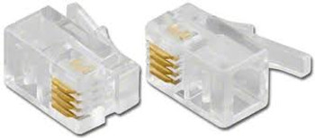 Modular Plug 4P4C For Flat Cable, 100 Pcs